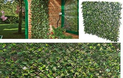 Expanding Leaf Trellis To Screen Area Fence with Artificial Green Laurel Leaves