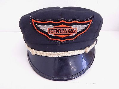 1950's Vintage Harley Davidson Motorcycle Captain Riding Hat