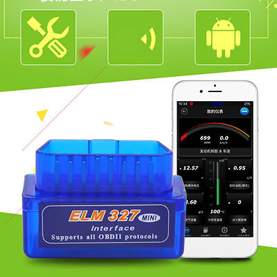 Mini ELM327 V2.1 OBD2 OBDII Bluetooth Adapter Auto Scanner TORQUE ANDROID