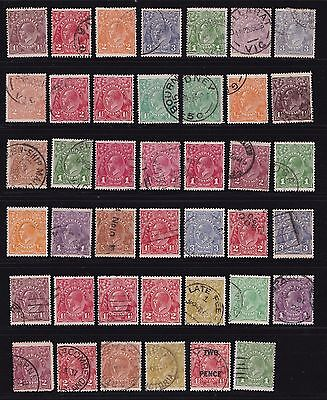 Stamps Australia - KGV Mixed Lot Used - Various Condition.