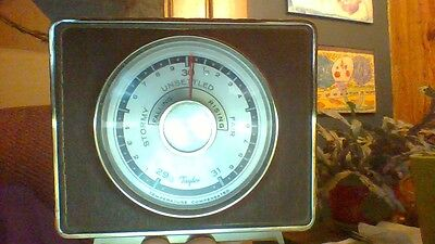 Vintage Taylor Rochester Weather Forcast  Compensated temperature Barometer