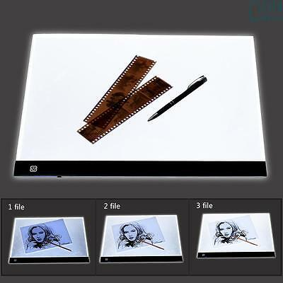 A3 Large LED Touch Dimmer Light Box Pad Art Craft Tracing Tattoo Board Lightbox