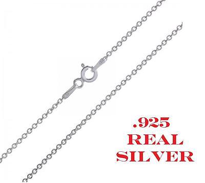 .925 Sterling Silver 1mm Cable Chain Necklace for Pendants -- *Wholesale Prices*