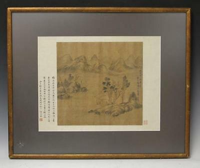 FRAMED CHINESE BRUSH PAINTING OF LANDSCAPE Lot 6236