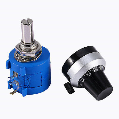 10K Ohm 3590S-2-103L Potentiometer With 10 Turn Counting Dial Rotary Knob Hot