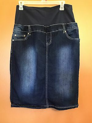 Maternity Jean Skirt With Panel Size Medium