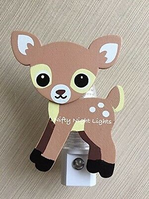 Nursery Night Lights - Night Light, Baby Shower, Fawn, Baby Deer AnimalsAuto On/