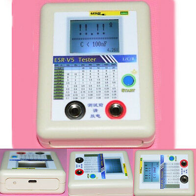 Capacitor Tester Equipment Internal Resistance Meter In Circuit Online ESR-V5