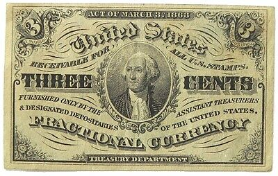 Us Three Cent Fractional Currency 3Rd Issue 1863