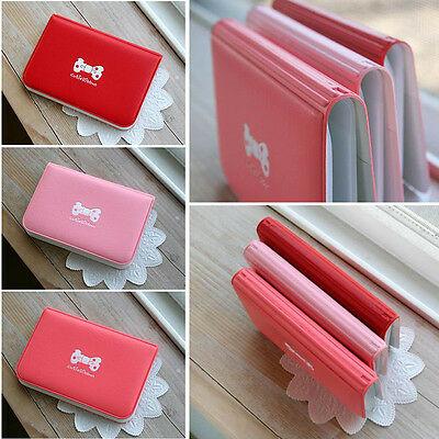 Woman Girl PVC Credit Card Travel Card Holder Bus Pass Cover Bank Card Holder