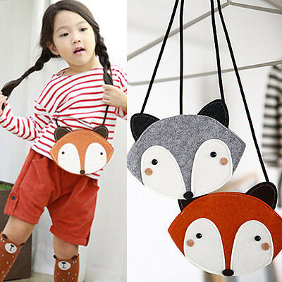 New Kids Girls Toddler Cute Fox Casual Shoulder Bag Crossbody Messenger Handbag