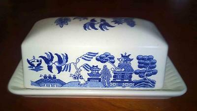 Vintage Willow Butter dish