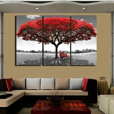 Red Queen Tree Canvas Print Wall Art Oil Painting Picture HD Wall Decor Unframed