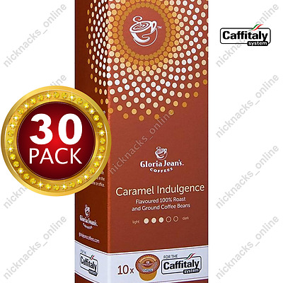 30 Capsules Gloria Jeans Coffee Caramel Indulgence Pods Caffitaly System