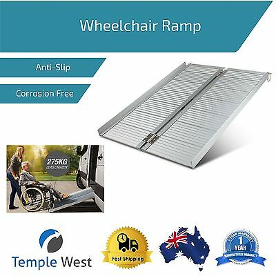 Wheelchair Loading Ramp Aluminum Lightweight Anti Slip Side Rails Folding 275kg