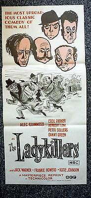 THE LADYKILLERS Rare Original 1970s Daybill Movie Poster Peter Sellers