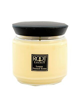 Root Candles Ape Regina Barattolo Medio Limone Frosted Metallo Candela Cera