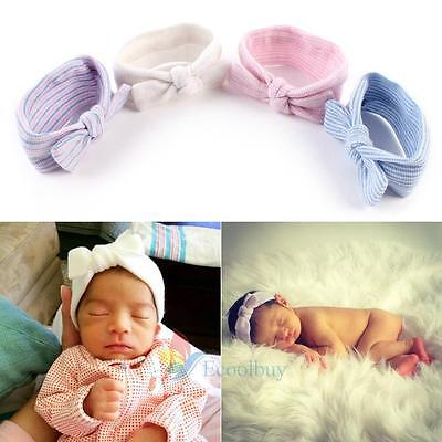 HOT Baby Boys Girls Bowknot Headband Cotton Stretchable Butterfly Knot Hairband