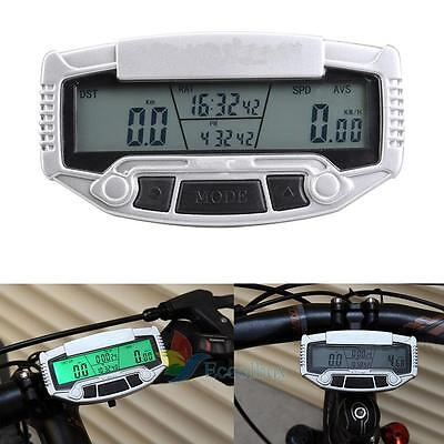 New Hot Wired Etanche Velo Bike Cycle Compteur Informatique Odometer +Back Light