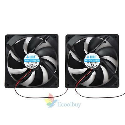 NEW HOT 2pcs 120mm 120x25mm 12V 4Pin Case DC Brushless PC Computer Cooling Fan