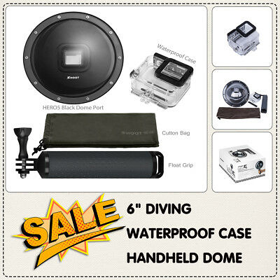 "6"" Diving Waterproof Case Handheld Dome Port  For GoPro Hero 5 Action Camera"