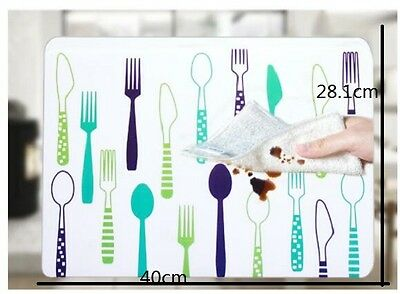 PVC Waterproof Placemats Insulation Mat Table Coasters Kitchen Dining Table 1Pcs