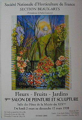 Affiche J. PATHE-LANCRY 1998 Exposition Horticulture