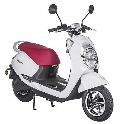 Electric scooter E-SCOOTER Retro Motorcycle DIAMOND WHITE up to 31 mph (50km/h)