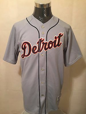 MLB Detroit Tigers #7 LGE Embroidered ROAD Baseball Jersey by Majestic