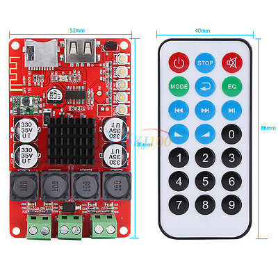 TPA3116 50Wx2 Digital Bluetooth receptor audio Amplificador con control remoto