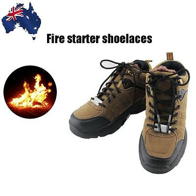 Outdoor Camping Survival Emergency Shoelace Fire Starter 550 Paracord Laces Tool