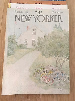 Lot of 11 Vintage The New Yorker Issues from 1984 & 1985