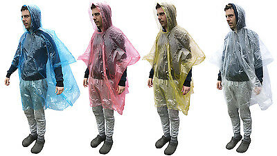 5x Disposable Emergency Raincoat Waterproof Poncho Rain Festivals Camping Hiking