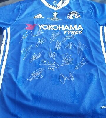 Chelsea Personally Hand Signed 2016/2017 Jersey Plus Coa   Terry, Fabregas