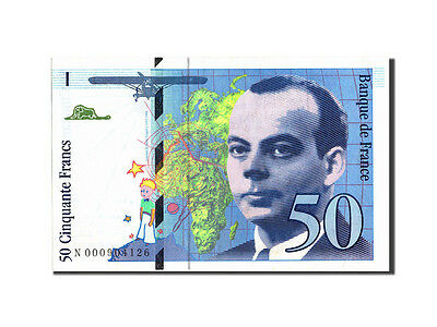 Billets, France, 50 Francs, 50 F 1992-1999 ''St Exupéry'', 1992, 1992 #210173