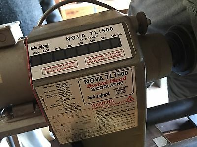 Nova Tl1500 Swivel Head Wood Lathe
