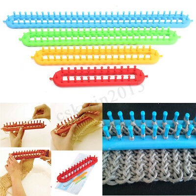 4Size Knitting Knitter Looms Ring DIY Plastic Long Scarf Shawl Hat Socks Making