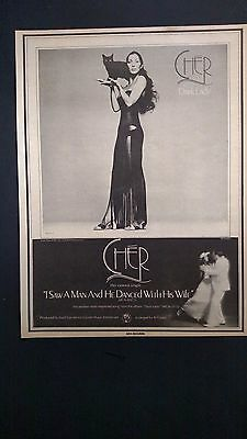 """CHER """"! Saw A Man & He Danced With His Wife"""" Original Promo Poster Ad"""