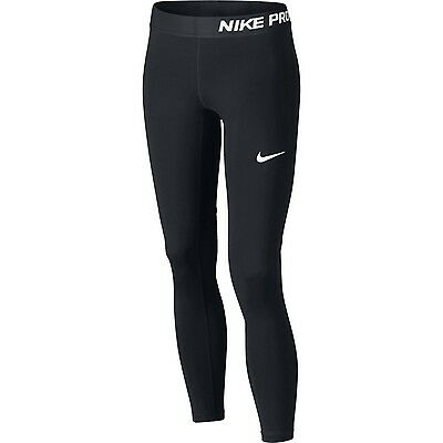 Nike Girl's Pro Tights Black Baselayer XS Sports/Running Age 6-7