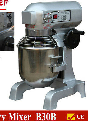 New 30L Commercial Planetary Food/dough Mixer 3 Speeds 1100W Wty