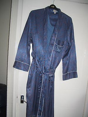 vintage   PAISLEY silky dressing gown smoking jacket 60s mens  XXL