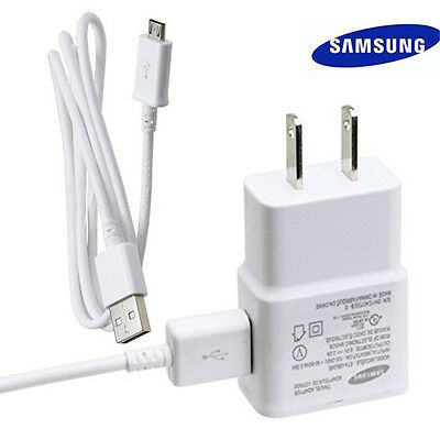 SAMSUNG Galaxy S2 S3 S4 Micro USB Data 3Ft Cable + Home Wall Charger OEM