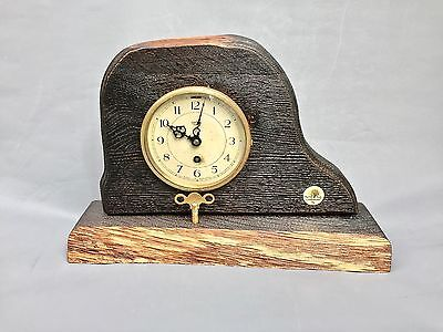 Vintage 1930s Smiths English Clock- Eight Day Mechanical Antique table clock