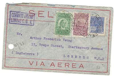 a233 Brazil Airmail cover to England