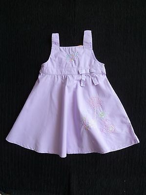 Baby clothes GIRL 3-6m MiniMode mauve cotton dress embroidered sleeveless C SHOP