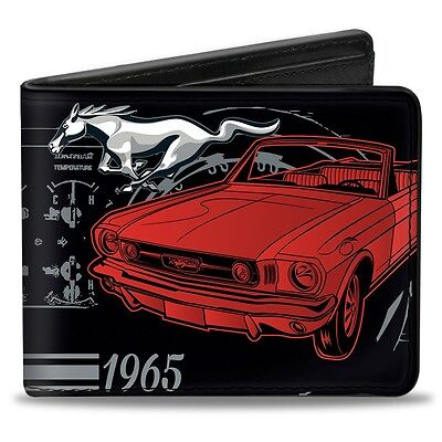 Leather style PU wallet 1965 Ford Mustang billfold - great gift!