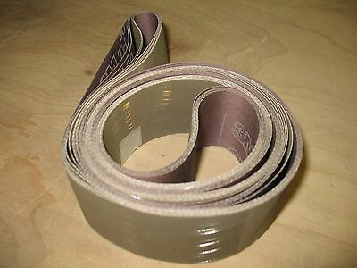"5 pc 2 x 72"" sanding belts for knife sharpening made with 3M Trizact 600 grit"