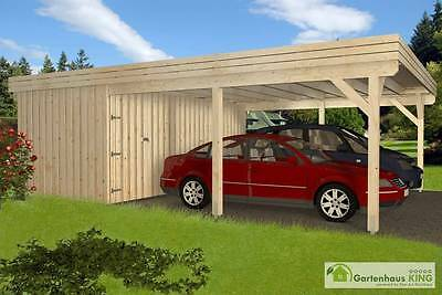 carport mason 7 doppelcarport mit abstellraum 570x780 cm garage holz unterstand eur. Black Bedroom Furniture Sets. Home Design Ideas