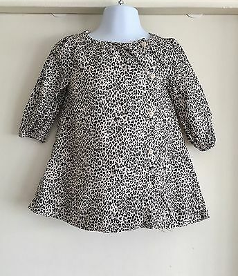 Baby Gap Girls Leopard Print Dress With Side Buttons 12-18 Months