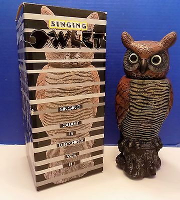 Singing Owlet Owl Motion Activated Head Moves and it Hoots Battery Operated